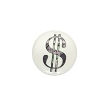 US Dollar Sign | Mini Button (100 pack)