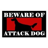 Beware of Attack Dog Irish Setter Decal