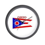 Ohio State Flag Wall Clock