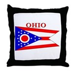 Ohio State Flag Throw Pillow