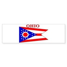 Ohio State Flag Bumper Bumper Sticker