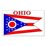 Ohio State Flag Rectangle Sticker