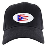 Ohio State Flag Black Cap