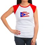 Ohio State Flag Women's Cap Sleeve T-Shirt