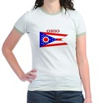 Ohio State Flag Jr. Ringer T-Shirt