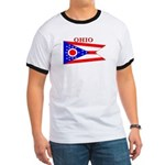 Ohio State Flag Ringer T