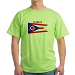 Ohio State Flag Green T-Shirt
