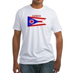 Ohio State Flag Fitted T-Shirt