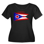 Ohio State Flag Women's Plus Size Scoop Neck Dark