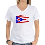 Ohio State Flag Women's V-Neck T-Shirt