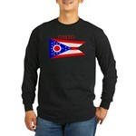 Ohio State Flag Long Sleeve Dark T-Shirt