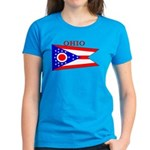 Ohio State Flag Women's Dark T-Shirt