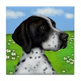 ENGLISH POINTER DOG Tile Coaster