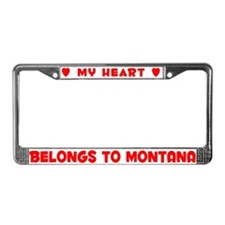 Heart Belongs to Montana - License Plate Frame