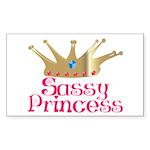 Sassy Princess Rectangle Sticker