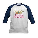 Sassy Princess Kids Baseball Jersey