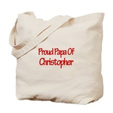 Proud Papa of Christopher Tote Bag