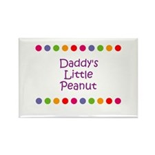 Daddy's Little Peanut Rectangle Magnet (10 pack)