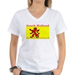 South Holland Flag Women's V-Neck T-Shirt