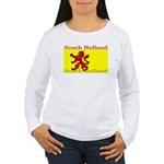 South Holland Flag Women's Long Sleeve T-Shirt