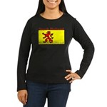 South Holland Flag Women's Long Sleeve Dark T-Shir