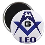 Masonic Leo Magnet