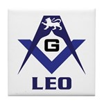 Masonic Leo Tile Coaster