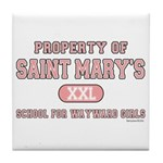 School for Wayward Girls Tile Coaster