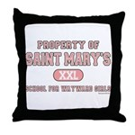 School for Wayward Girls Throw Pillow