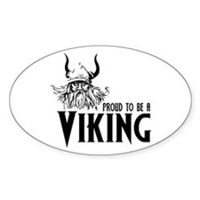 Proud to be a Viking Oval Decal