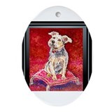 Terrier Mix Dixie Oval Ornament