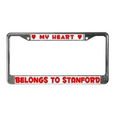 Heart Belongs to Stanford - License Plate Frame