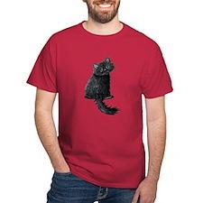 Black Persian Cat T-Shirt