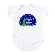 A Russian Blue Christmas Infant Bodysuit