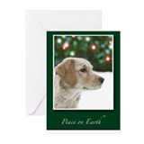 Golden Retriever Peace on Earth Cards
