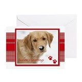 Seasons Greetings Golden Retriever Christmas Cards