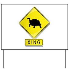 Turtle XING Yard Sign