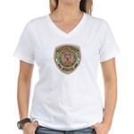 Umatilla Tribal Police Women's V-Neck T-Shirt