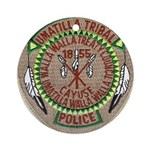 Umatilla Tribal Police Ornament (Round)