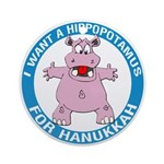 Hippopotamus For Hanukkah Ornament (Round)