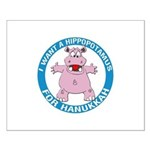 Hippopotamus For Hanukkah Small Poster