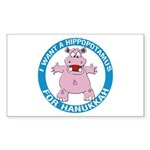 Hippopotamus For Hanukkah Sticker (Rectangle)