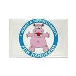 Hippopotamus For Hanukkah Rectangle Magnet