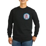 Hippopotamus For Hanukkah Long Sleeve Dark T-Shirt