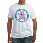 Hippopotamus For Hanukkah Fitted T-Shirt