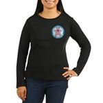 Hippopotamus For Hanukkah Women's Long Sleeve Dark
