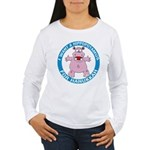 Hippopotamus For Hanukkah Women's Long Sleeve T-Sh