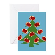 Meat Christmas Tree Greeting Cards (Pk of 20)