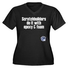Scratchbuilders Women's Plus Size V-Neck Dark T-Sh