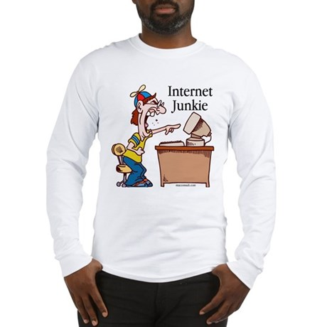 """Internet Junkie"" #2 Long Sleeve T-Shirt"